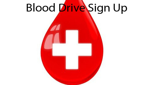 Blood Drive Sign Up